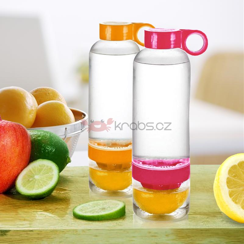 Citrus Water Bottle 800 ml, pink