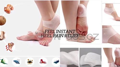 Gelové ponožky na zkrášlení popraskaných pat 4b6e4cdbff