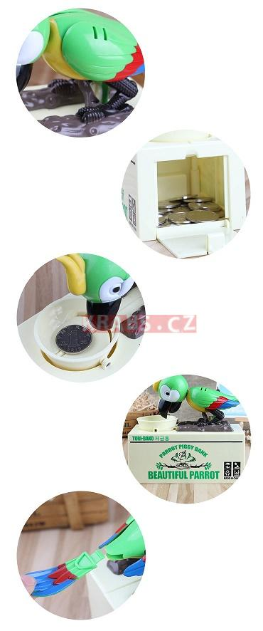 Kasička Money Bank Parrot