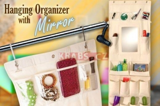 Hanging Organizer with Mirror